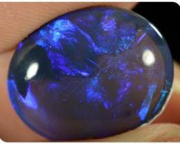 BIG 5.25ct Black Opal - ID:20215 Double Sided Rolling Flash