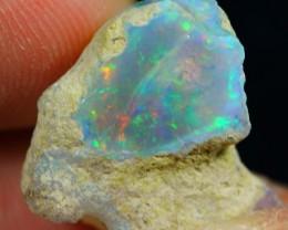 13.75cts SPLENDID RAINBOW COLOR Untreated Ethiopian Welo Rough Opal