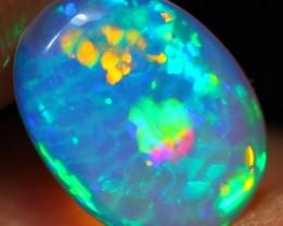 1.04Ct NEON Green HONEYCOMB Color Ethiopian Welo Opal