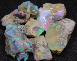75Ct Mixed Color Play Ethiopian Welo Rough Opal Parcel Lot
