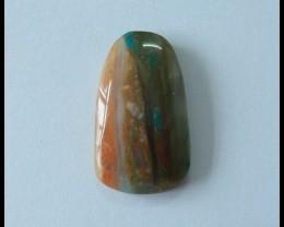14.5 Ct Natural Peruvian Blue Opal Gemstone Cabochon