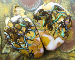 52cts.BOULDER MATRIX OPAL PAIR,