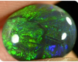 1.9ct Black Opal - ID:20261 Gold / Green / Orange oval gem