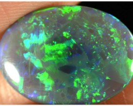 2.95ct Black Opal - ID:20297 Gold / Green / Orange oval