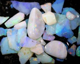 50 CTS COOBER PEDY WHITE OPAL ROUGH PARCEL DT-6404