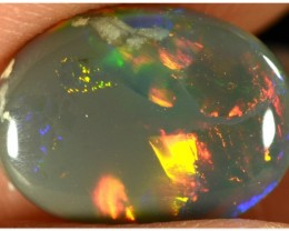 1.45ct Black Opal - ID:20081 Red / Gold rolling flash pattern