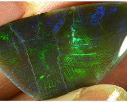 HUGE 13.35ct Black Opal - ID:20184 Huge size, Emerald green
