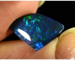 2.4ct Black Opal - ID:20298 Freeform rare gem with electric