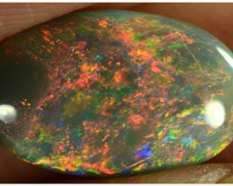 2.35ct Black Opal - ID:20083 Rare and Red with GEM quality