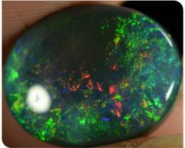4.40ct Black Opal - ID:20116 Rainbow colour palet Gold/Green colours