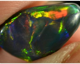 1.65ct Black Opal - ID:20011 Rare and Red with GEM quality multi color
