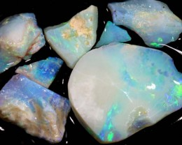 50 CTS COOBER PEDY WHITE OPAL ROUGH PARCEL DT-6412