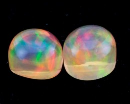 4.56ct Mexican Fire Opal Round Cabochon Pair (MO326-2)