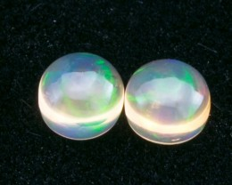 4.27ct Mexican Fire Opal Round Cabochon Pair (MO328-2)