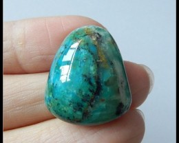 23.95Ct Natural peruvian Blue Opal Cabochon