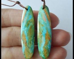 19.5 ct Natural Blue Opal Earring Beads,Beautiful!