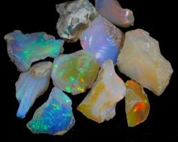 34cts 10Pcs Natural Ethiopian Welo Rough Specimen