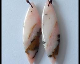 28.9 ct Natural Peruvian Pink Opal Earring Beads