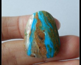 22 Ct Natural Blue Opal Cabochon