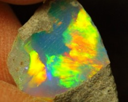 2.68Ct BRIGHT 5/5 Color Ethiopian Welo Rough Opal