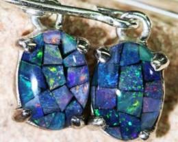 Shepard Hook triplet  opal earrings setr BU 1174