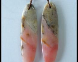 27.6 ct Natural Pink Opal Earring beads ,Sweet Opal