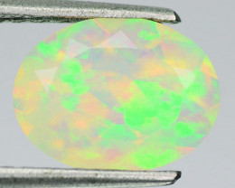 1.93 Cts Natural Ethiopian Multi-Color Play Opal  Oal Faceted - NR Auction