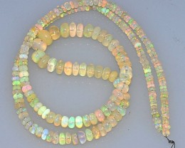23+ Cts Natural Ethiopian Multi-Color Play Opal Beads - NR Auction