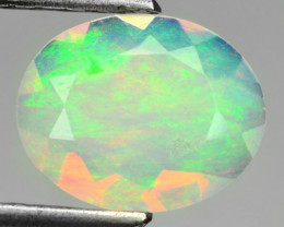 1.33 Cts Natural Multi Color Play Ethiopian Faceted Opal NR