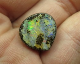 11cts.AUSTRALIAN BOULDER OPAL, MULTI COLOUR BRIGHT FLASH;