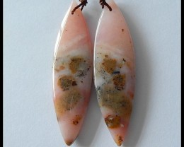 28.35 Ct Natural Pink Opal Earring Beads