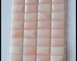 32 pcs Natural Pink Opal Gemstone Cabochons Parcel