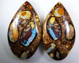 74.25 CT   Polished  Boulder Opal Pair  BU 1229