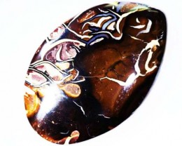 63.6 CT  Pattern Chocolate   Boulder Opal   BU 1281