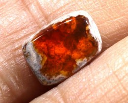 7.05 CTS MEXICAN FIRE OPAL MATRIX CAB LO-3639