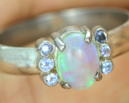 8.5 SIZE CRYSTAL OPAL WITH TANZANITE  [SOJ1501]