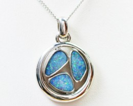 Doublet Opal set in hand made silver Pendant 192246