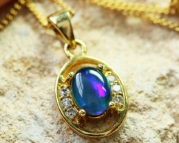 Bright Australian Triplet Opal Pendant  BU1336