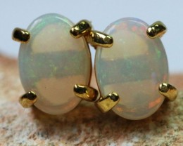 Solid Opal set in  G/P Earrings BU1337
