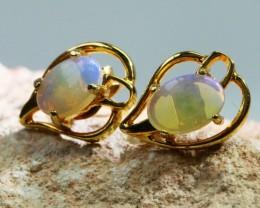 Solid Opal set in G/P earrings BU1341