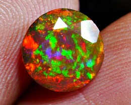 1.05 CRT AMAZING DARK GALAXY RAINBOW SMOKED OPAL.