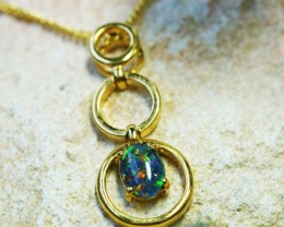 Triplet set in  Gold Plated silver Pendant BU1423