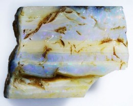 90.55 CTS  BOULDER OPAL ROUGH -OLD STOCK [BY4676 ]