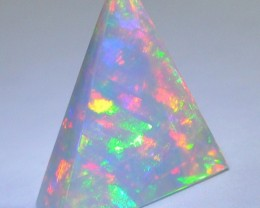 5.95ct ETHIOPIAN WELLO GEM OPAL FANCIFUL FAUX PYRAMID OF STUNNING FIRE