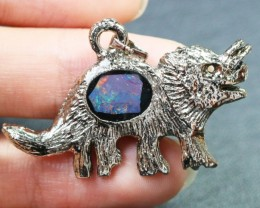 5 Pieces Cute Dinosaur Opal pendants BU1469