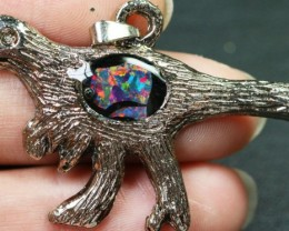 11 Pieces Cute Dinosaur Opal pendants BU1477