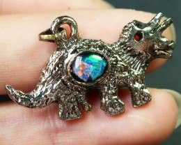 5 Pieces Cute Dinosaur Opal pendants BU1479