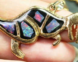 5 Pieces Cute Dinosaur Opal pendants BU1470