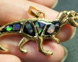 5 Pieces Cute Dinosaur Opal pendants BU1471