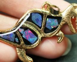 6 Pieces Cute Dinosaur Opal pendants BU1475